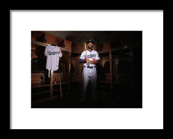 Media Day Framed Print featuring the photograph Matt Kemp by Christian Petersen