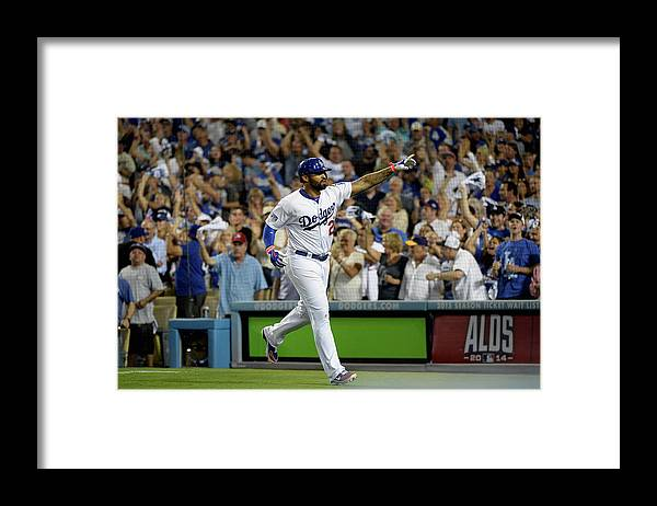 Game Two Framed Print featuring the photograph Matt Kemp by Harry How
