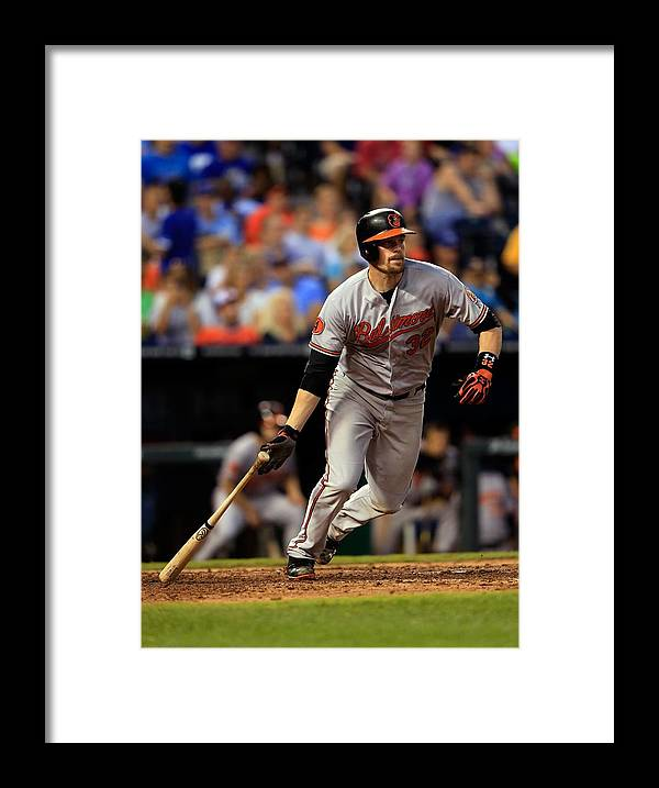 American League Baseball Framed Print featuring the photograph Matt Wieters by Jamie Squire