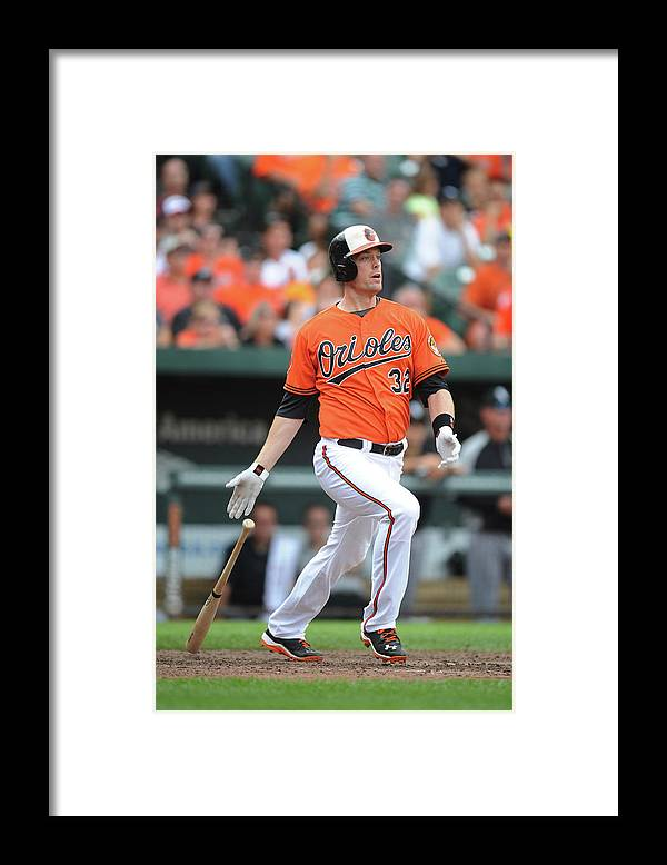 American League Baseball Framed Print featuring the photograph Matt Wieters by Mitchell Layton