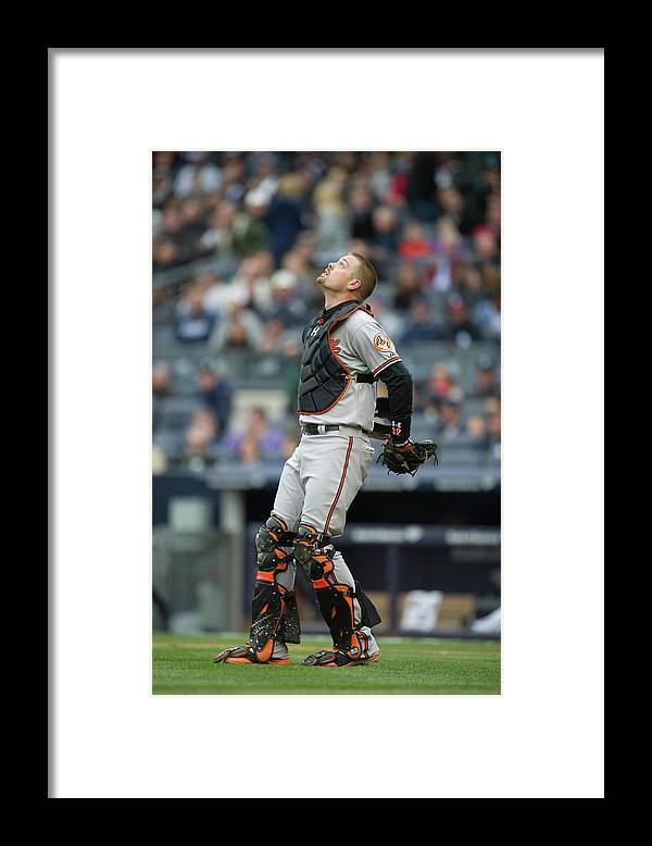 East Framed Print featuring the photograph Matt Wieters by Rob Tringali