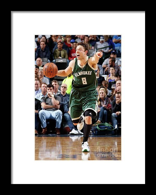 Nba Pro Basketball Framed Print featuring the photograph Matthew Dellavedova by Danny Bollinger