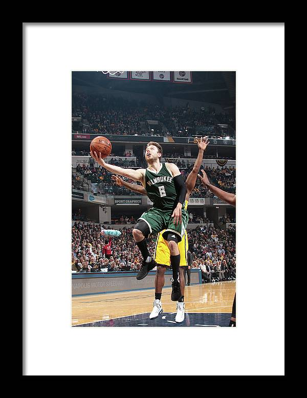 Nba Pro Basketball Framed Print featuring the photograph Matthew Dellavedova by Ron Hoskins