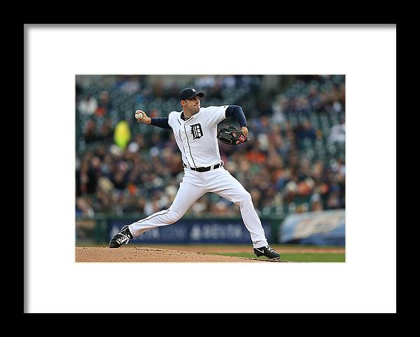 American League Baseball Framed Print featuring the photograph Max Scherzer by Leon Halip