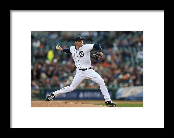American League Baseball Framed Print featuring the photograph Max Scherzer by Leon Halip