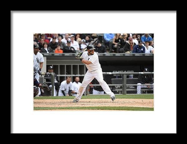 American League Baseball Framed Print featuring the photograph Melky Cabrera by Ron Vesely