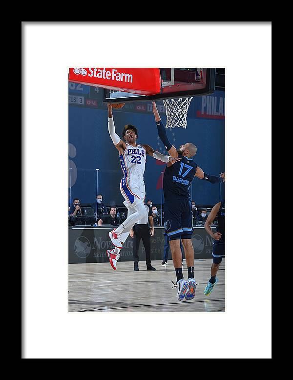 Nba Pro Basketball Framed Print featuring the photograph Memphis Grizzlies v Philadelphia 76ers by Bill Baptist