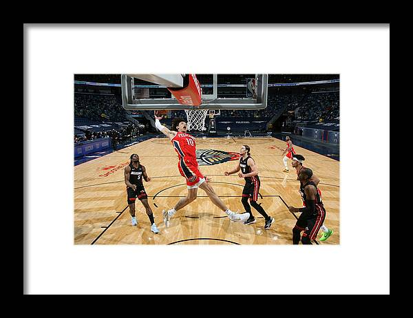Smoothie King Center Framed Print featuring the photograph Miami Heat v New Orleans Pelicans by Layne Murdoch Jr.