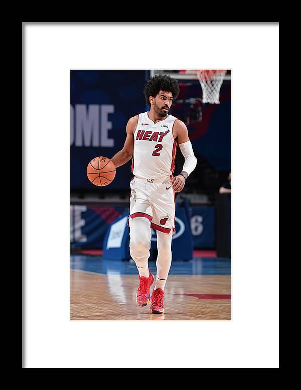 Nba Pro Basketball Framed Print featuring the photograph Miami Heat v Philadelphia 76ers by David Dow