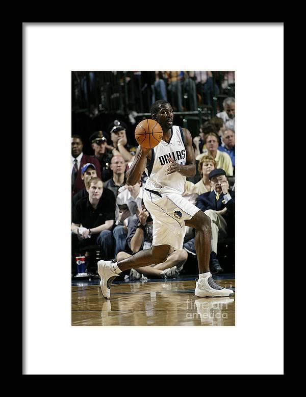Nba Pro Basketball Framed Print featuring the photograph Michael Finley by Glenn James