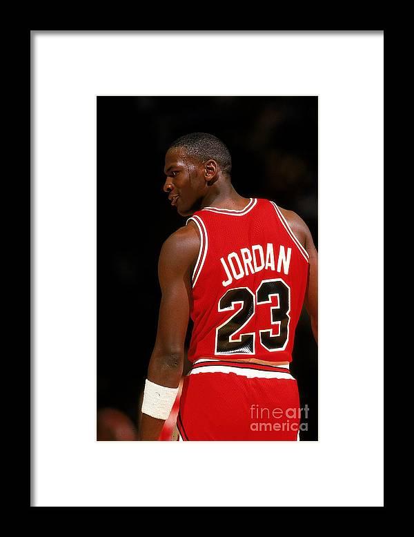 Chicago Bulls Framed Print featuring the photograph Michael Jordan by Scott Cunningham