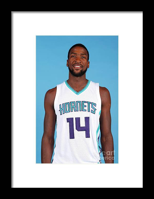 Media Day Framed Print featuring the photograph Michael Kidd-gilchrist by Brock Williams-smith