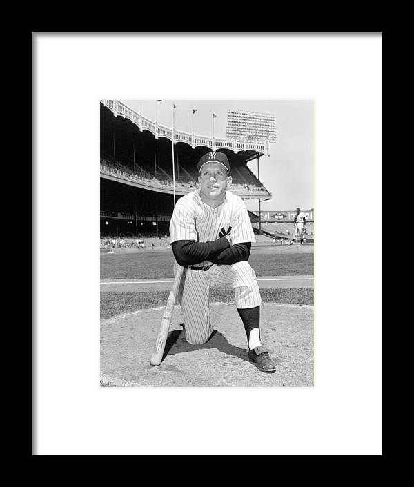 People Framed Print featuring the photograph Mickey Mantle by Louis Requena