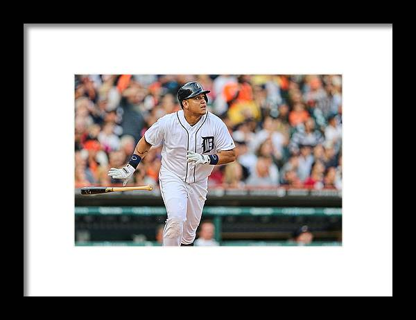 American League Baseball Framed Print featuring the photograph Miguel Cabrera by Leon Halip