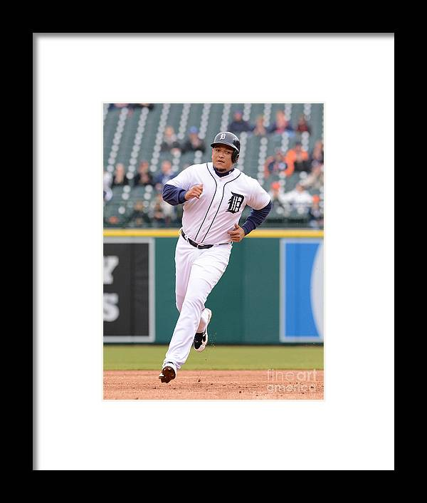 People Framed Print featuring the photograph Miguel Cabrera by Mark Cunningham