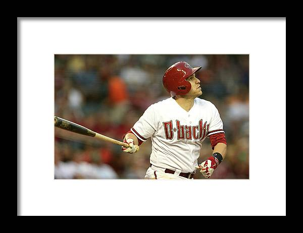 National League Baseball Framed Print featuring the photograph Miguel Montero by Christian Petersen