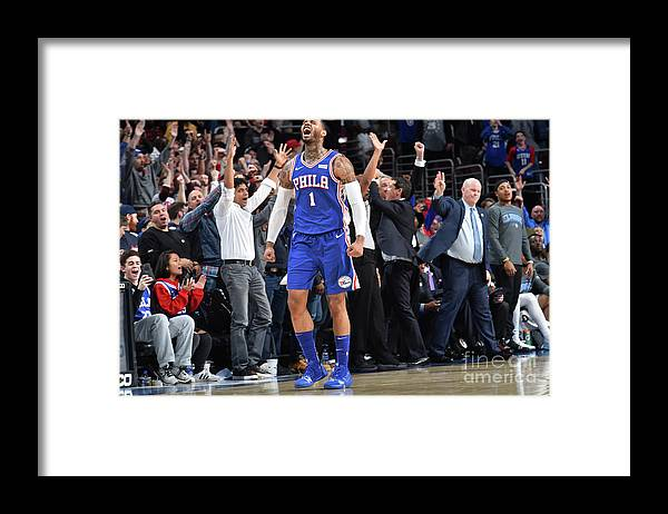 Nba Pro Basketball Framed Print featuring the photograph Mike Scott by Jesse D. Garrabrant