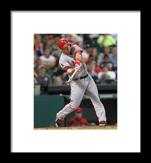 People Framed Print featuring the photograph Mike Trout by Bob Levey