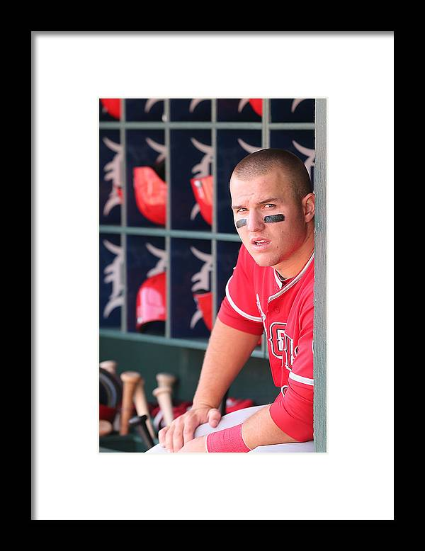 Ninth Inning Framed Print featuring the photograph Mike Trout by Leon Halip
