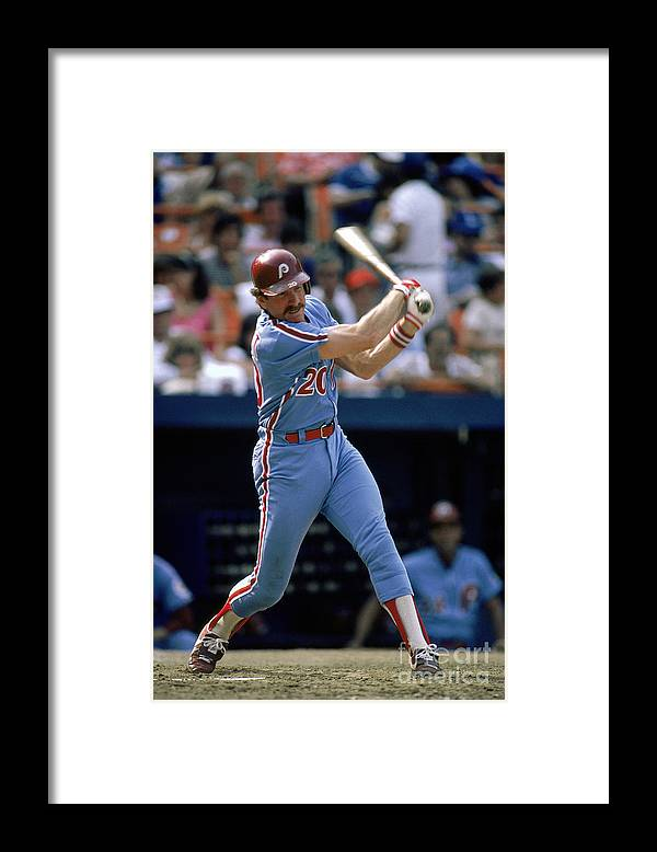 Mike Schmidt Framed Print featuring the photograph Mike York by Mlb Photos