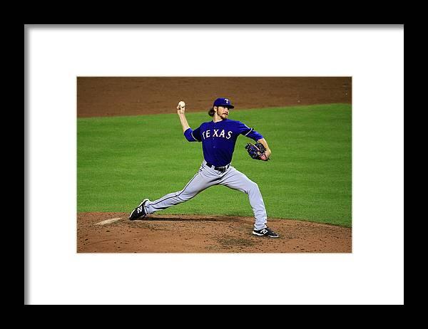 American League Baseball Framed Print featuring the photograph Miles Mikolas by Rob Carr