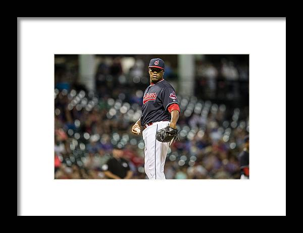 Three Quarter Length Framed Print featuring the photograph Minnesota Twins v Cleveland Indians by Jason Miller