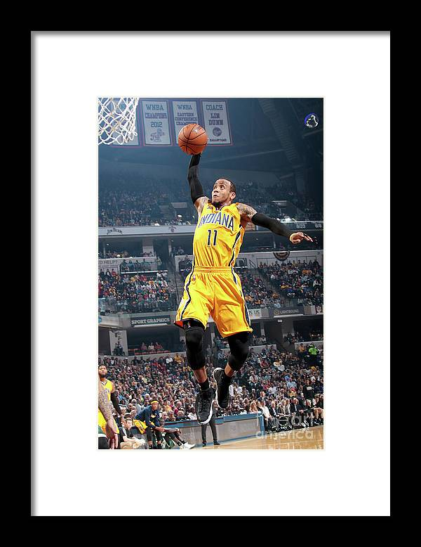 Nba Pro Basketball Framed Print featuring the photograph Monta Ellis by Ron Hoskins