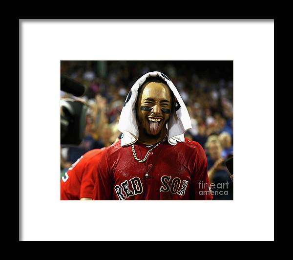 People Framed Print featuring the photograph Mookie Betts by Omar Rawlings