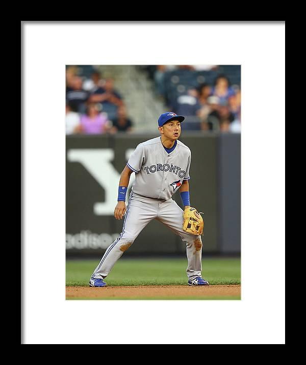 American League Baseball Framed Print featuring the photograph Munenori Kawasaki by Al Bello