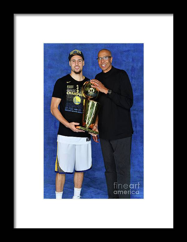 Playoffs Framed Print featuring the photograph Mychal Thompson and Klay Thompson by Jesse D. Garrabrant