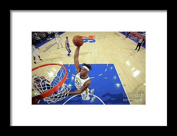 Nba Pro Basketball Framed Print featuring the photograph Myles Turner by Jesse D. Garrabrant