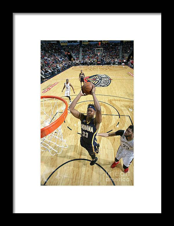 Smoothie King Center Framed Print featuring the photograph Myles Turner by Layne Murdoch