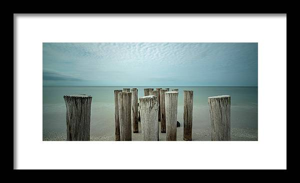 Naples Florida 2021 Framed Print featuring the photograph Naples Pilings 2021 by Joey Waves