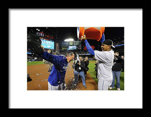 Salvador Perez Diaz Framed Print featuring the photograph Ned Yost by Al Bello