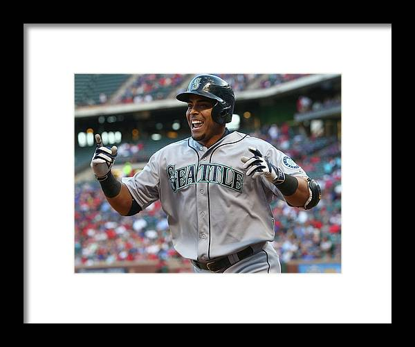 Second Inning Framed Print featuring the photograph Nelson Cruz by Ronald Martinez