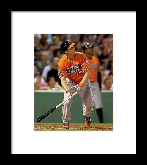 American League Baseball Framed Print featuring the photograph Nick Hundley by Jim Rogash