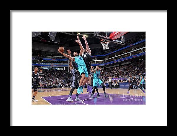 Nicolas Batum Framed Print featuring the photograph Nicolas Batum by Rocky Widner