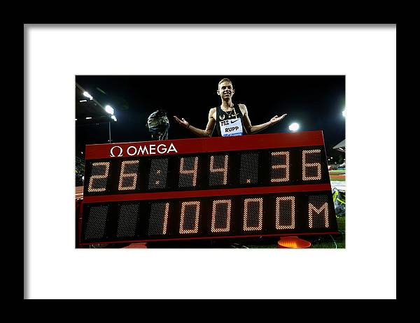 Galen Rupp Framed Print featuring the photograph Nike Prefontaine Classic-Day1 by Jonathan Ferrey