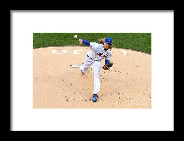 People Framed Print featuring the photograph Noah Syndergaard by Mike Stobe