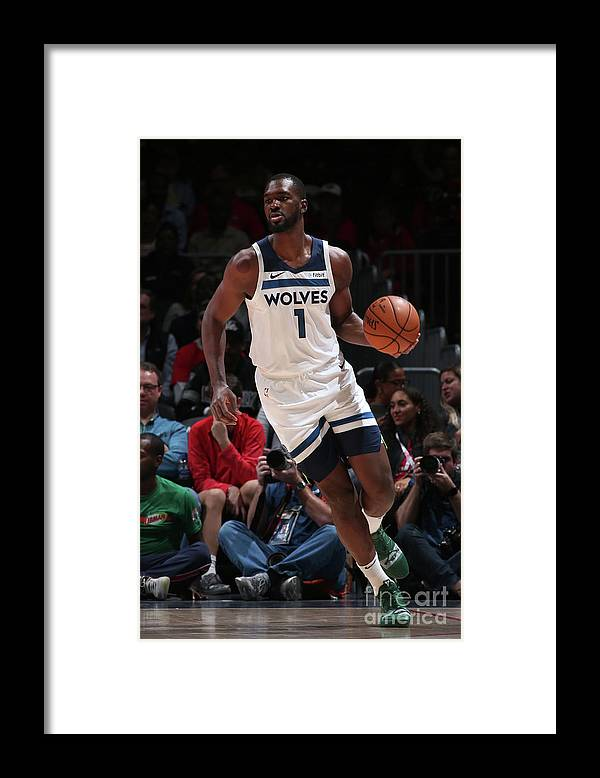 Nba Pro Basketball Framed Print featuring the photograph Noah Vonleh by Ned Dishman