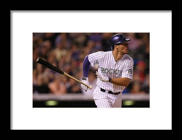 National League Baseball Framed Print featuring the photograph Nolan Arenado by Doug Pensinger