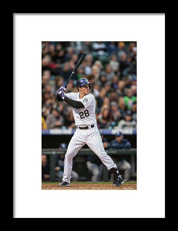 National League Baseball Framed Print featuring the photograph Nolan Arenado by Dustin Bradford