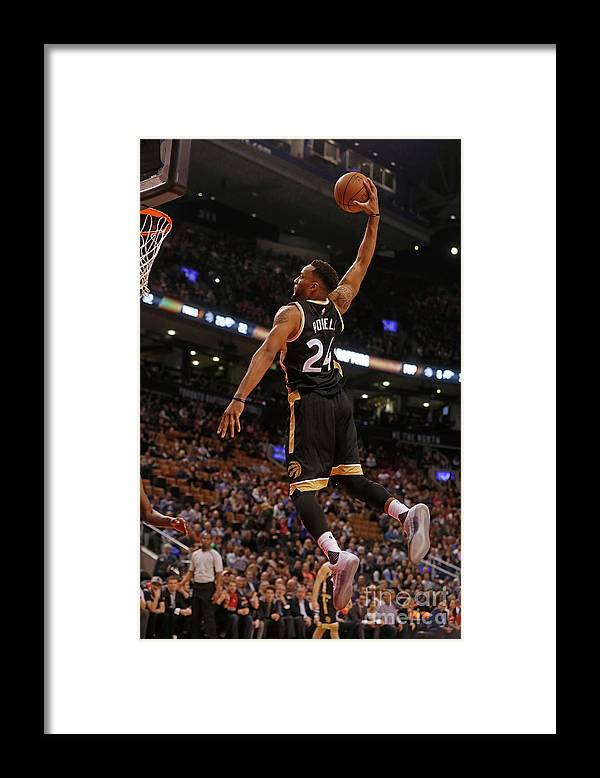 Nba Pro Basketball Framed Print featuring the photograph Norman Powell by Mark Blinch
