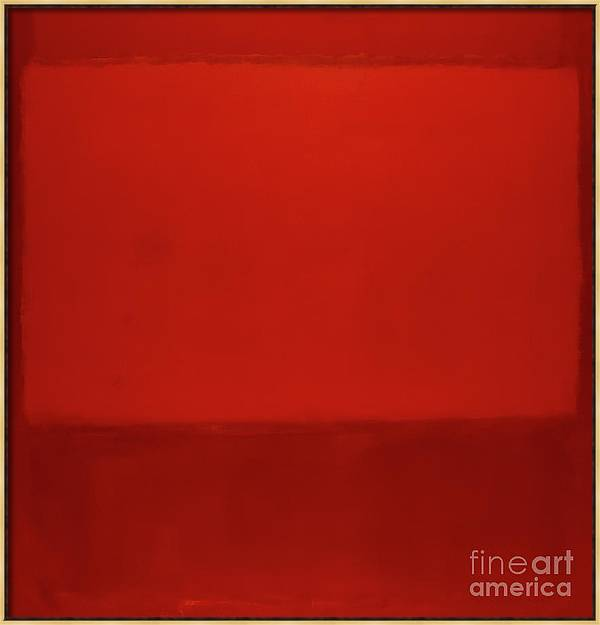 Orange and Red on Red, 1957 by Mark Rothko