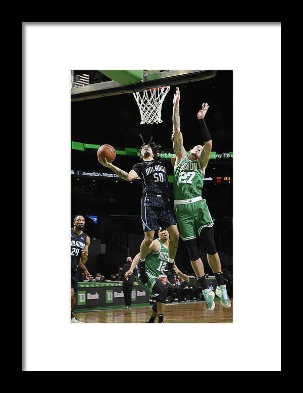 Nba Pro Basketball Framed Print featuring the photograph Orlando Magic v Boston Celtics by Brian Babineau