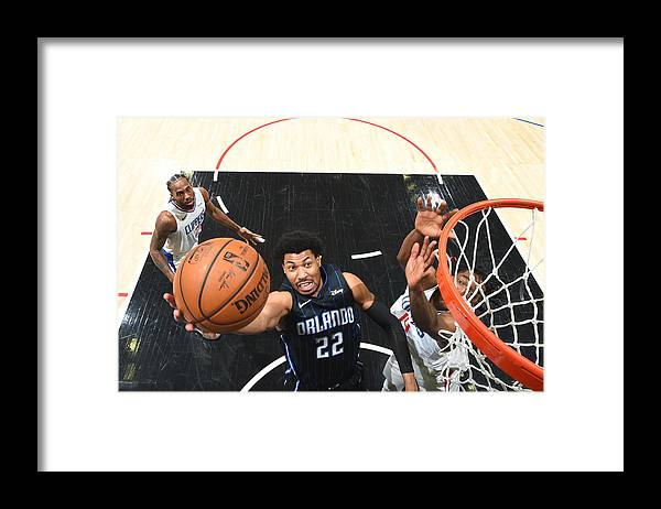 Nba Pro Basketball Framed Print featuring the photograph Orlando Magic v Los Angeles Clippers by Andrew D. Bernstein