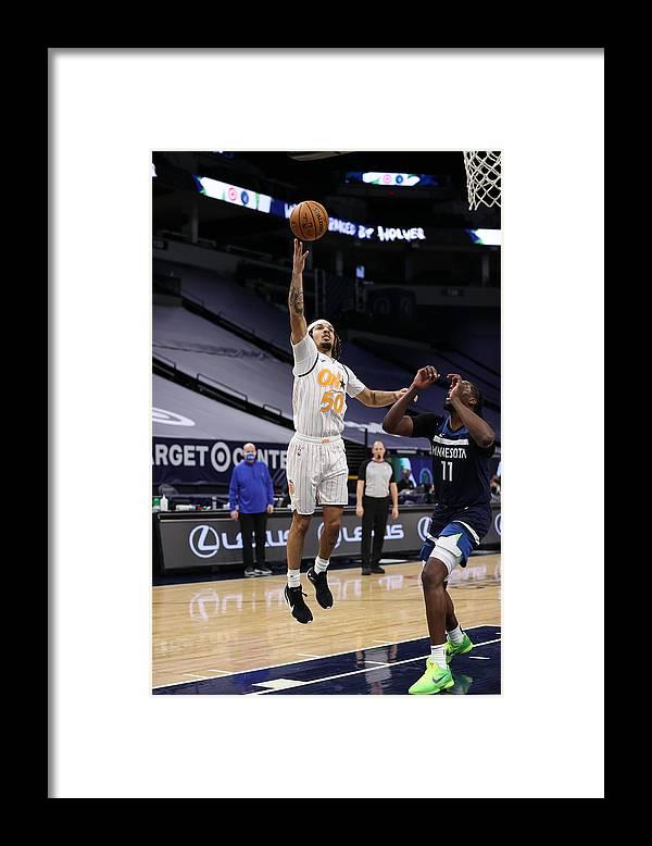Nba Pro Basketball Framed Print featuring the photograph Orlando Magic v Minnesota Timberwolves by Jordan Johnson