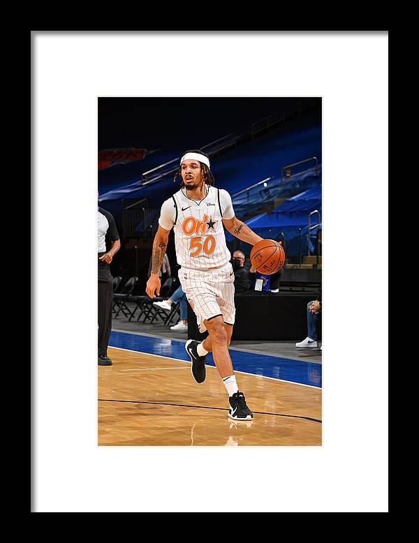 Nba Pro Basketball Framed Print featuring the photograph Orlando Magic v New York Knicks by Jesse D. Garrabrant