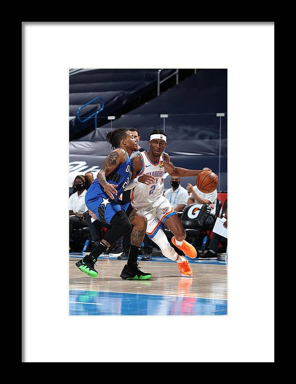 Nba Pro Basketball Framed Print featuring the photograph Orlando Magic v Oklahoma City Thunder by Zach Beeker