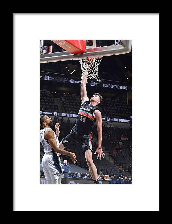 Nba Pro Basketball Framed Print featuring the photograph Orlando Magic vs. San Antonio Spurs by Logan Riely